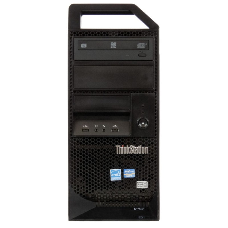 Komputer Lenovo ThinkStation E31 Xeon E3 v2 16GB 512SSD Quadro 2000 Windows 10 Kl B