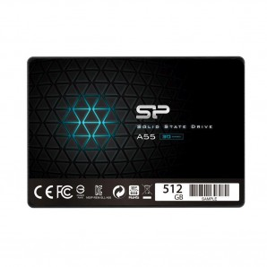 """Dysk SSD Silicon Power A55 512GB 2.5"""" SATA3 (560/530) 3D NAND, 7mm-6807"""